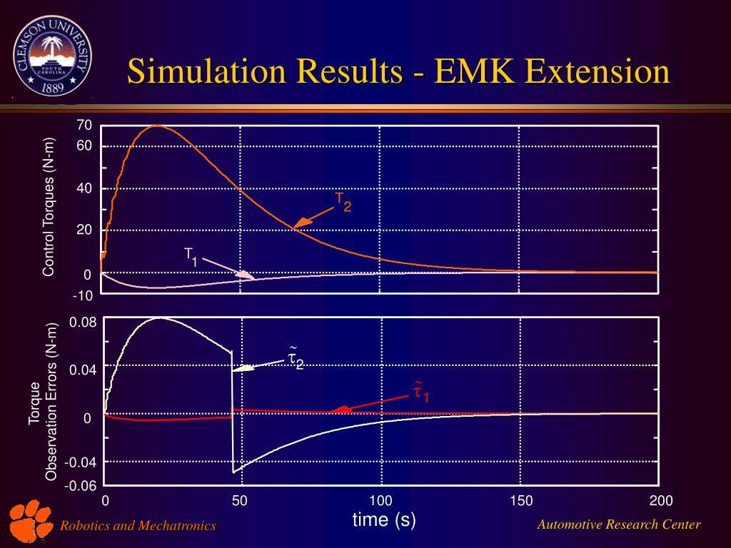 Simulation Results - EMK Extension