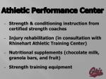 athletic performance center