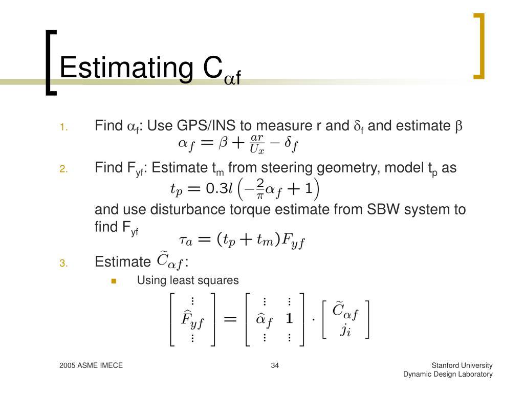 Estimating C