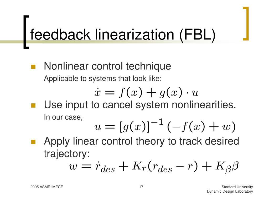 feedback linearization (FBL)
