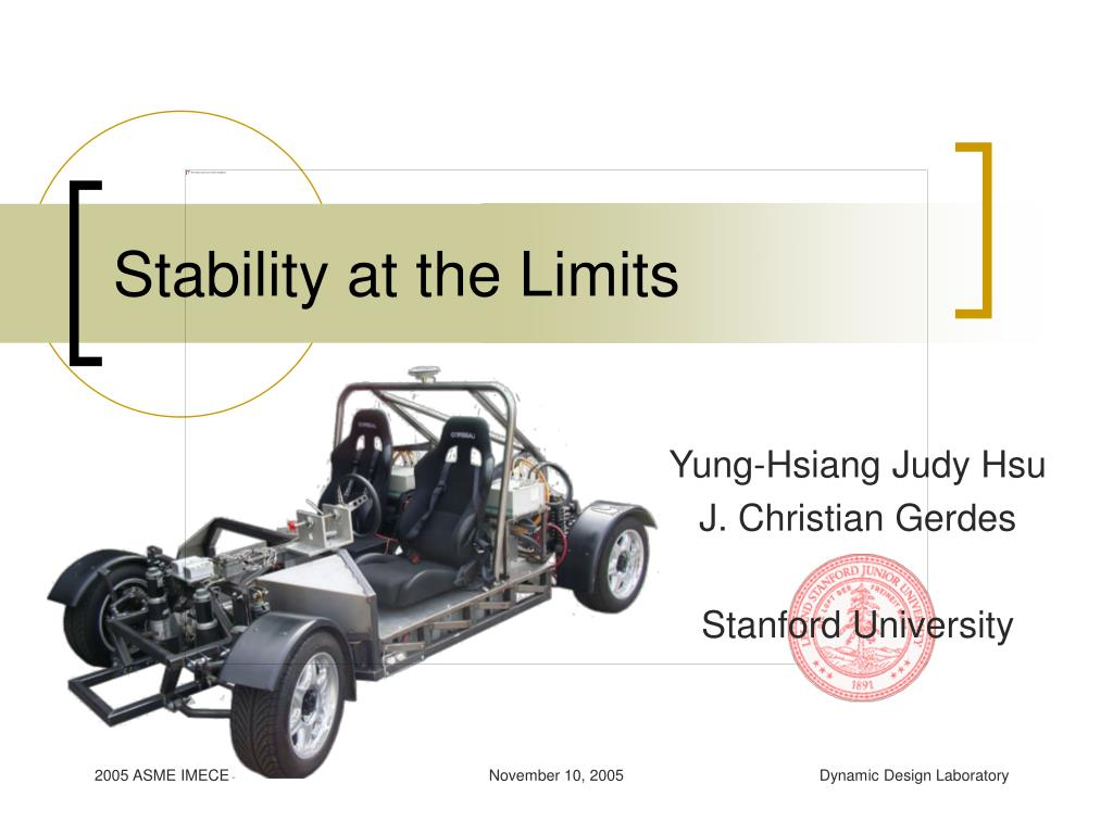 stability at the limits l.