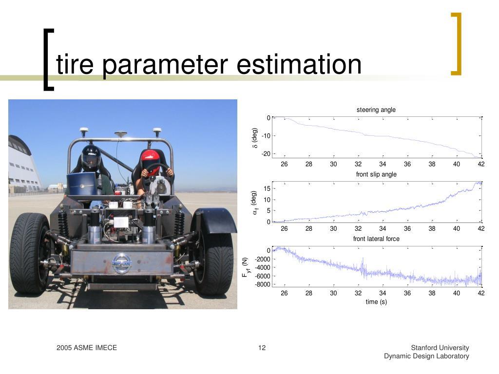 tire parameter estimation