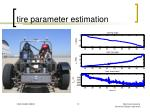 tire parameter estimation