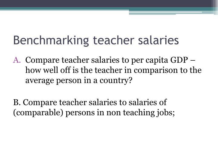 Benchmarking teacher salaries