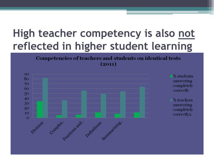 High teacher competency