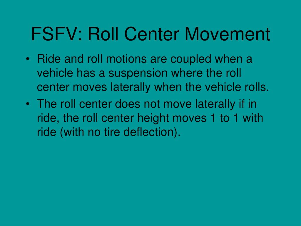 FSFV: Roll Center Movement