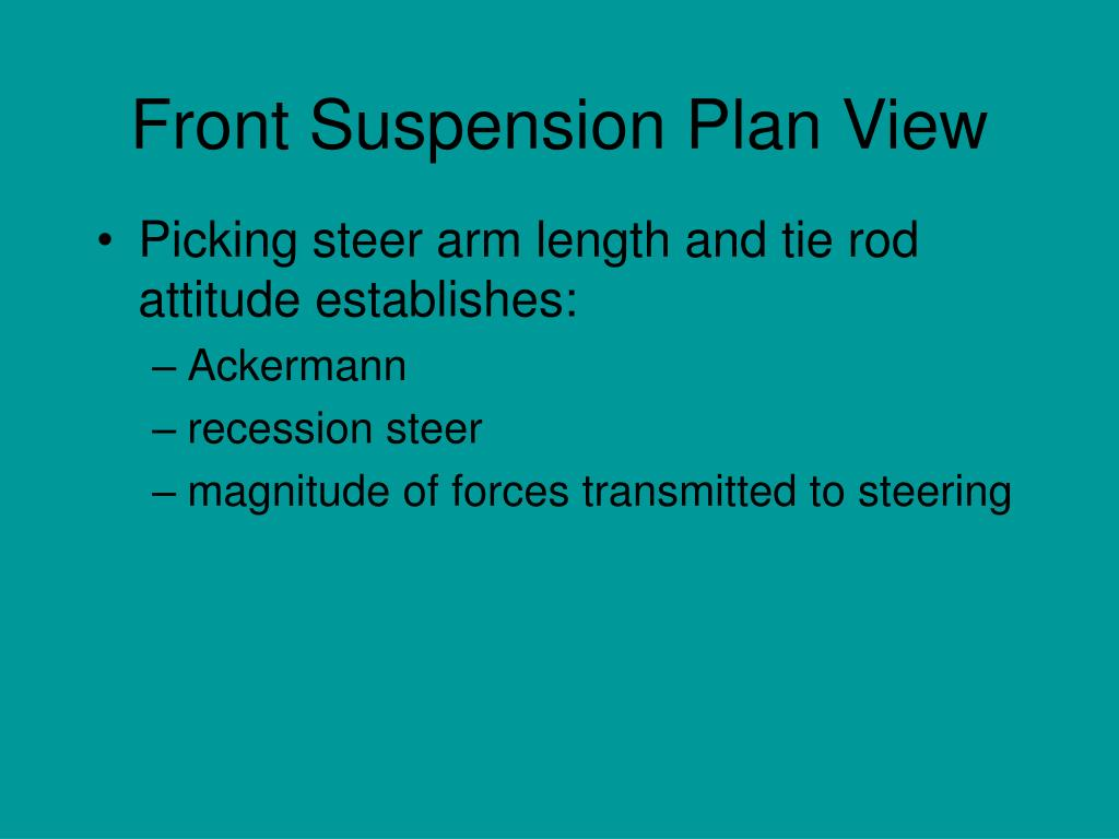 Front Suspension Plan View