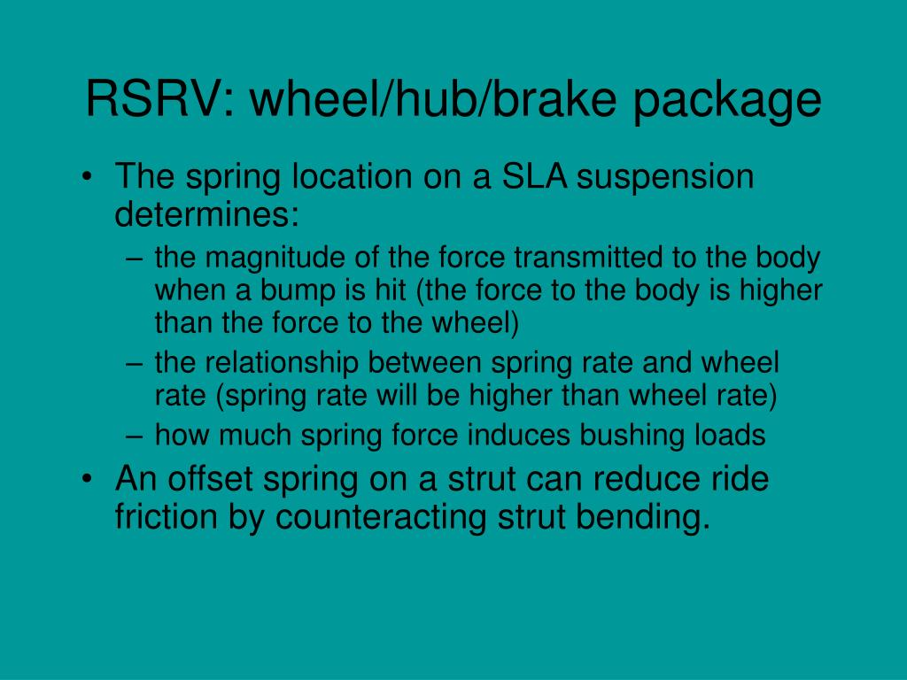 RSRV: wheel/hub/brake package