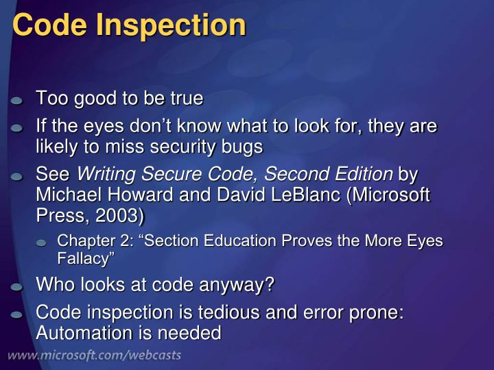 Code Inspection