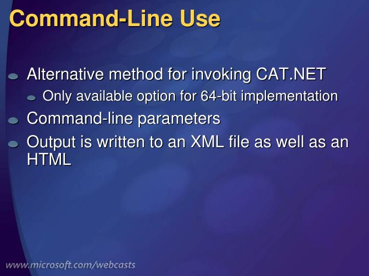 Command-Line Use