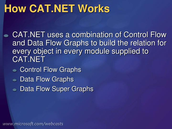 How CAT.NET Works