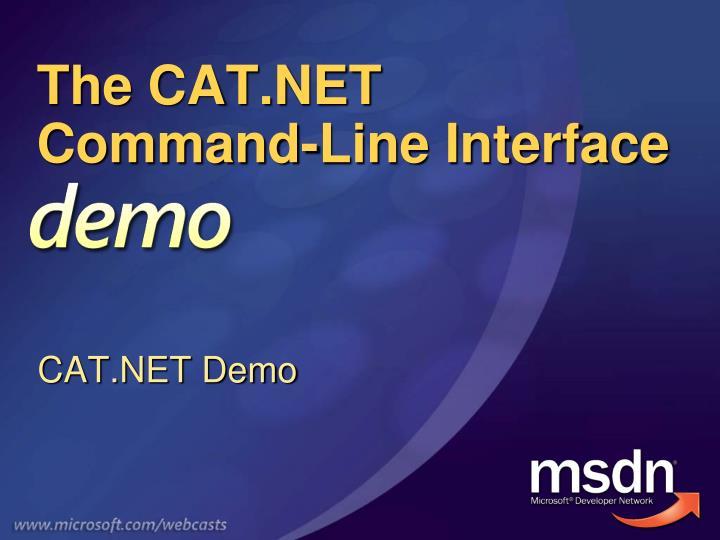 The CAT.NET