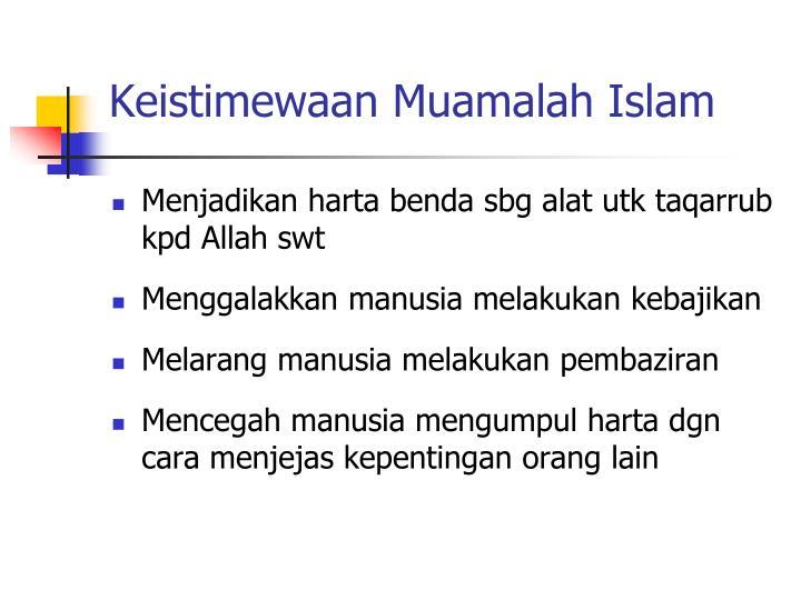 Keistimewaan Muamalah Islam