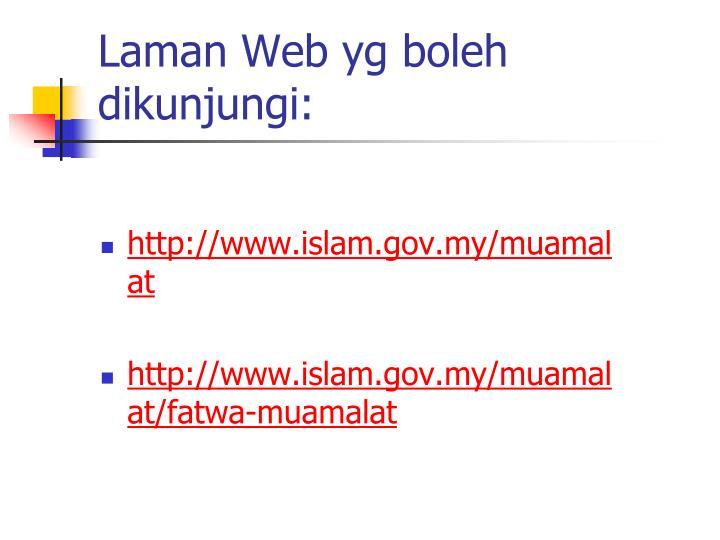 Laman Web yg boleh dikunjungi: