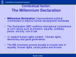 contextual factor the millennium declaration