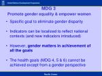 mdg 3 promote gender equality empower women