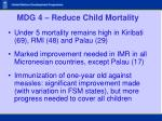 mdg 4 reduce child mortality