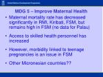 mdg 5 improve maternal health