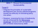 mdg 7 ensure environmental sustainability