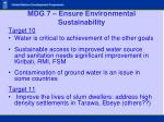 mdg 7 ensure environmental sustainability21