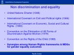 non discrimination and equality