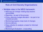 role of civil society organizations