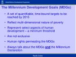 the millennium development goals mdgs