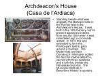 archdeacon s house casa de l ardiaca