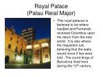 royal palace palau reial major