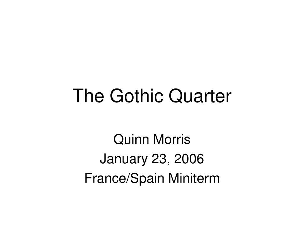the gothic quarter l.