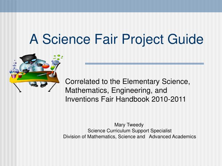 a science fair project guide n.