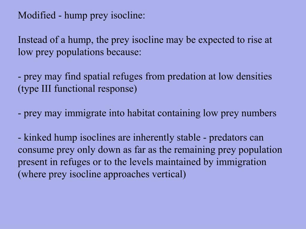 Modified - hump prey isocline:
