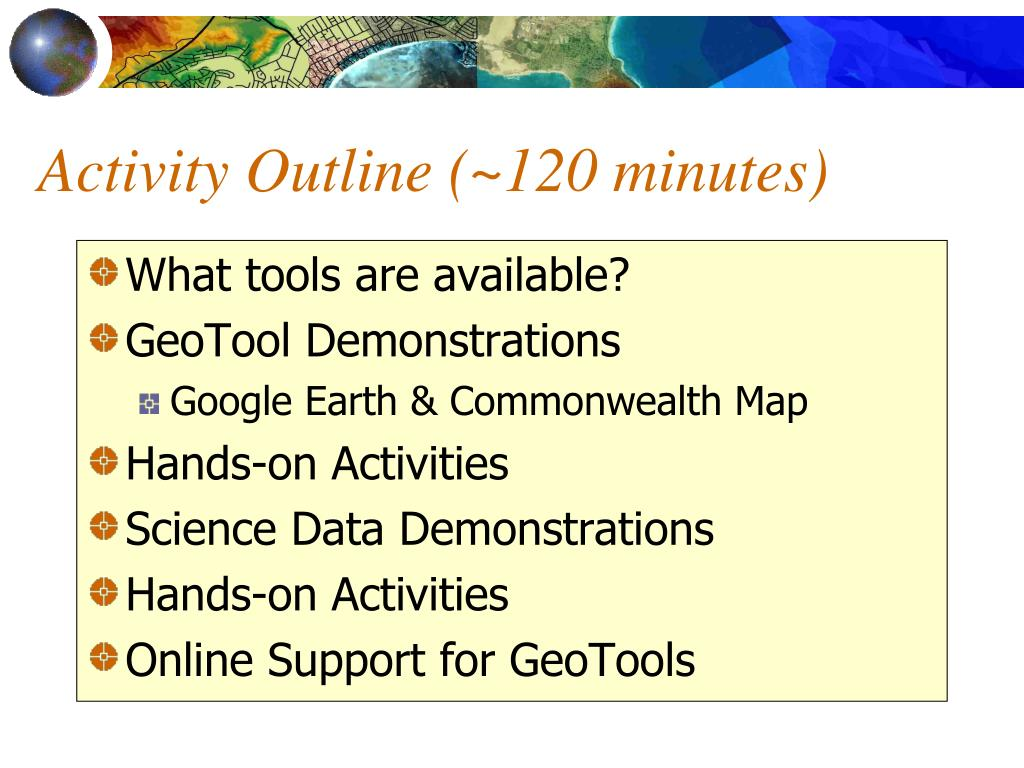 Activity Outline (~120 minutes)