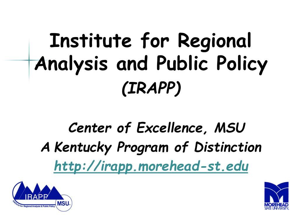 Institute for Regional Analysis and Public Policy