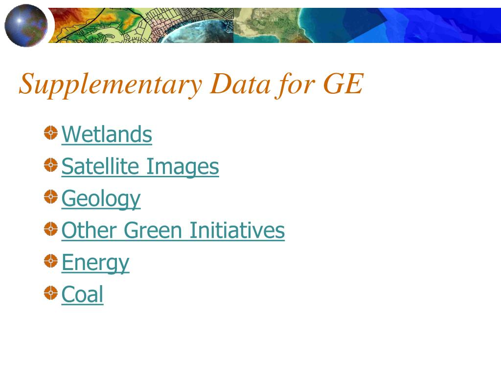 Supplementary Data for GE