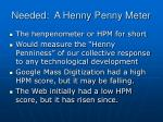 needed a henny penny meter