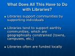 what does all this have to do with libraries