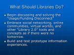 what should libraries do