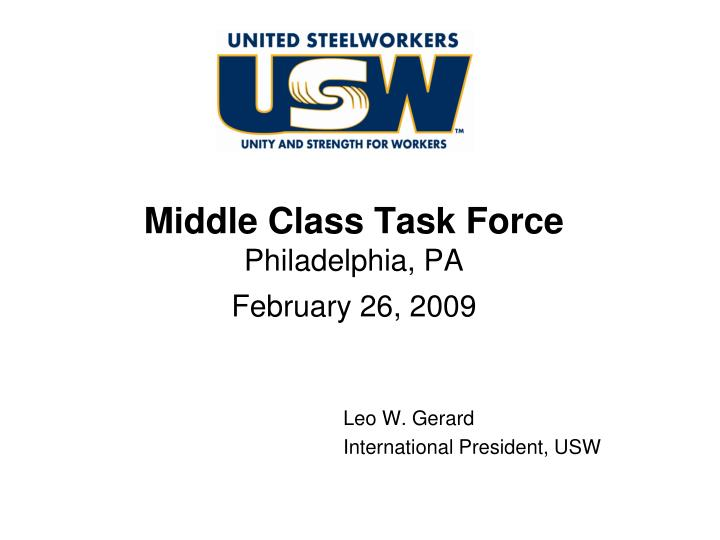 middle class task force philadelphia pa february 26 2009 n.