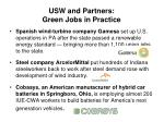 usw and partners green jobs in practice