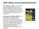 usw history of environmental activism