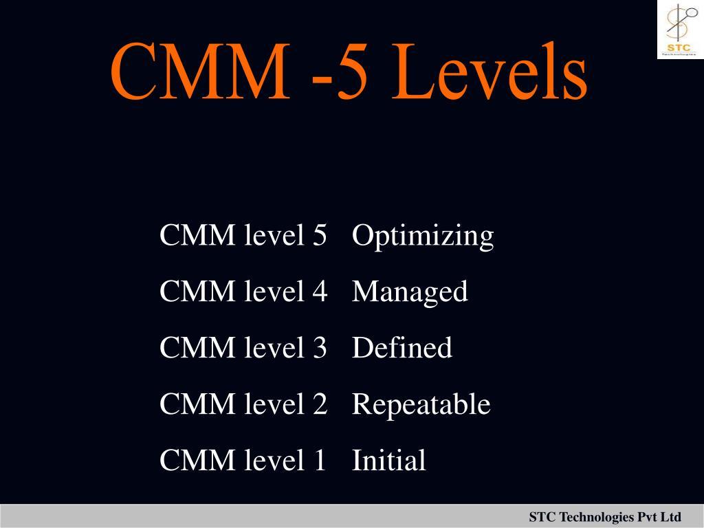 CMM -5 Levels