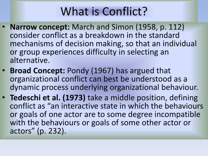 the definition and positive side of conflict Definition, usage and a list of conflict examples in common speech and literature external conflict, on the other hand, is marked by a characteristic involvement of an action wherein a character finds himself in struggle with those outside forces that hamper his progress.