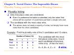 chapter 9 social choice the impossible dream plurality voting and the condorcet winning criterion