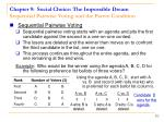 chapter 9 social choice the impossible dream sequential pairwise voting and the pareto condition