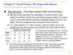 chapter 9 social choice the impossible dream the hare system and monotonicity13
