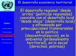 el desarrollo econ mico territorial