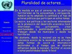 pluralidad de actores