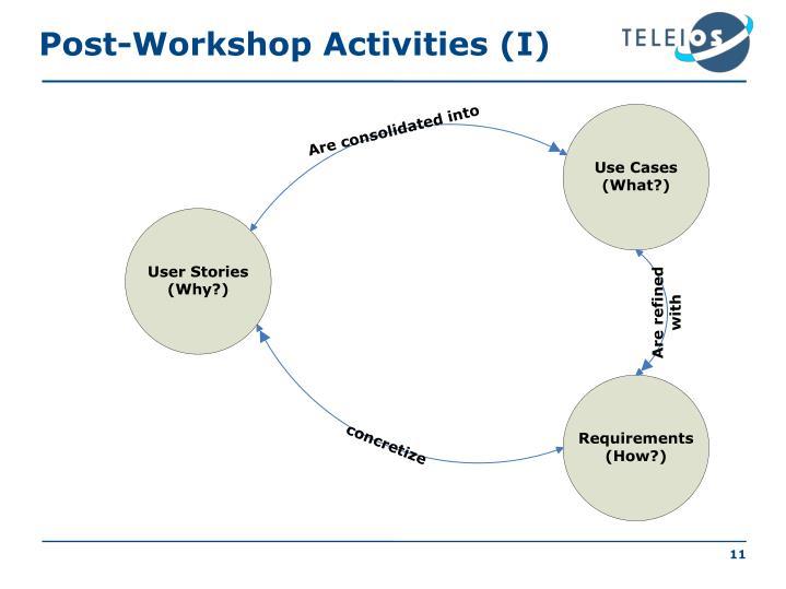 Post-Workshop Activities (I)