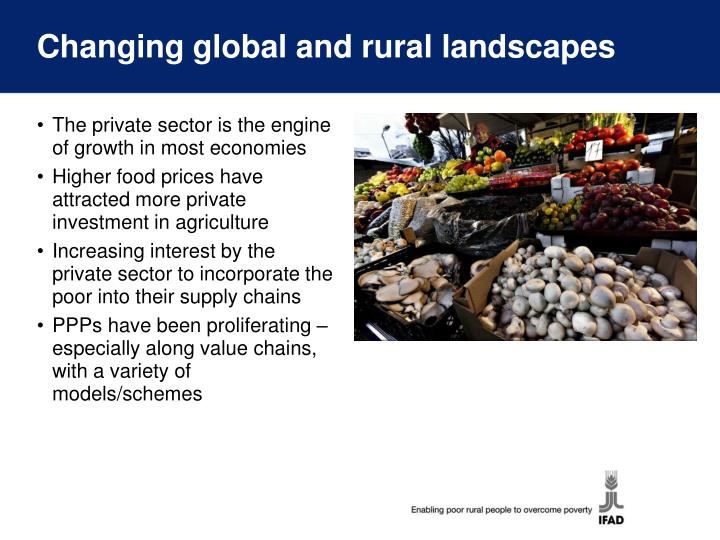Changing global and rural landscapes